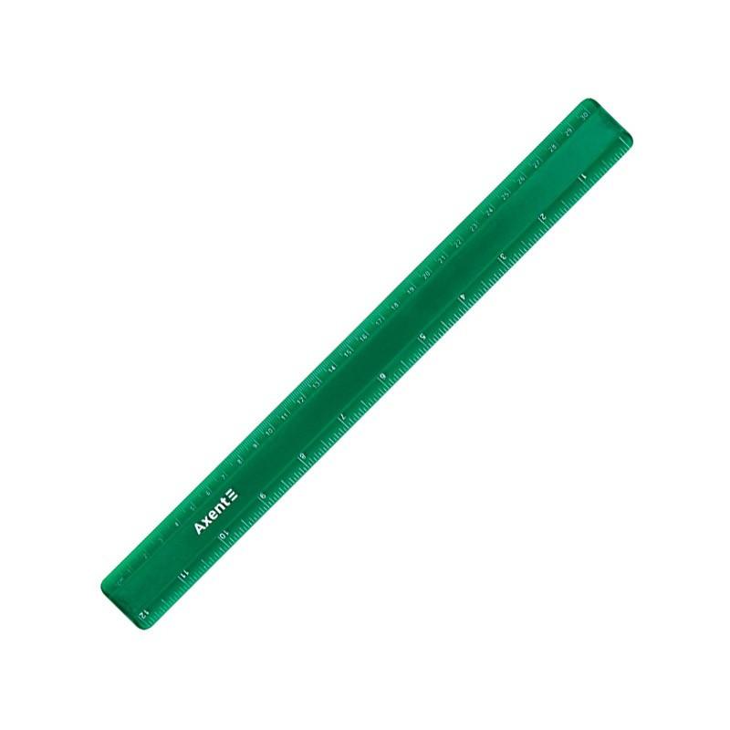 Лінійка пластикова 30 см матова зелена, AXENT