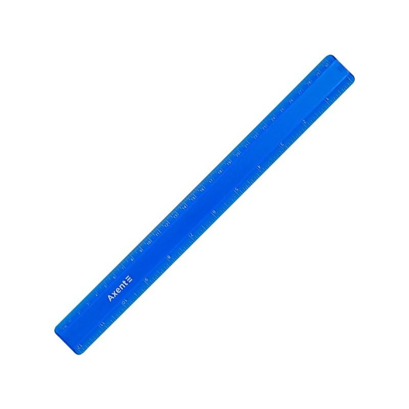 Лінійка пластикова 30 см матова синя,  AXENT