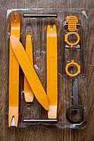 Комплект пластиковых клиньев и ключей для разборки салона панели торпеды авто