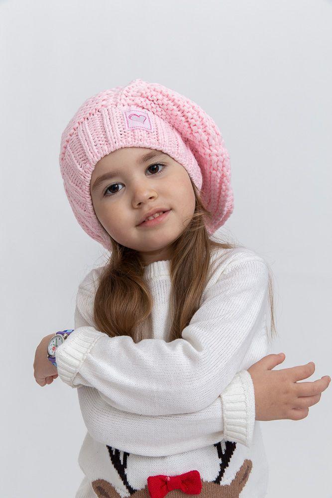 Шапка дитяча колір рожевий розмір 50-52 SKL87-305083