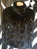Шуба женская короткая из искусственной норки (RA158)