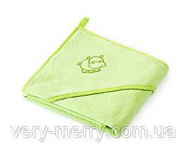Дитячий махровий рушник Sensillo Hippo Green