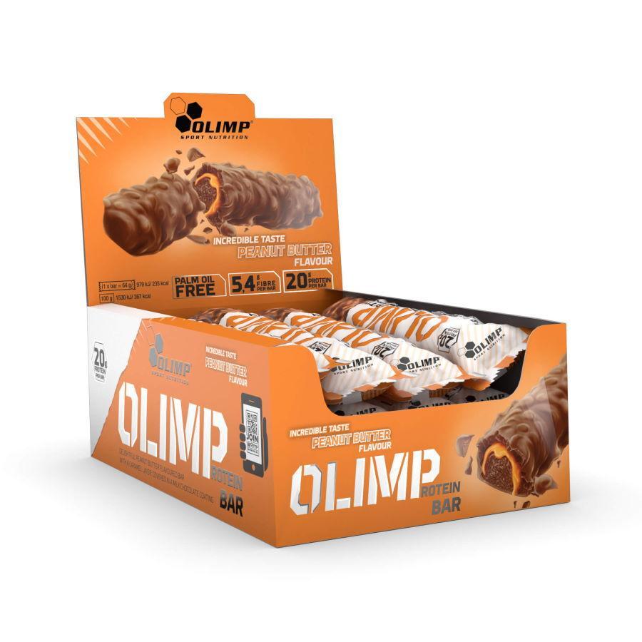 Батончик Olimp Protein bar, 12*64 грамм Арахисовая пасста