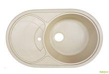 Мийка 7750, врізна гранітна (з отвором під змішувач) Platinum