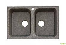 Мийка 7648 W, врізна гранітна (з отвором під змішувач) Platinum