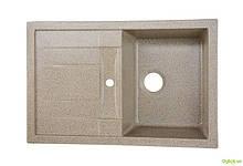 Мийка 7850, врізна гранітна (з отвором під змішувач) Platinum