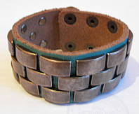 Браслет кожаный Spikes США, фото 1