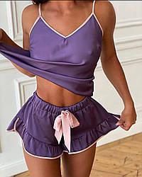 Шикарна жіноча літнє піжама Purple