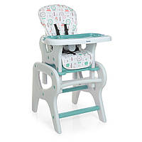 Детский Стульчик для кормления Трансформер - 3 положения спинки, столик+стульчик 61х73х107см Bambi Flowers
