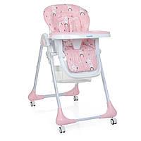 Детский регулируемый Стульчик для кормления Bambi Rabbit Girl Pink: съёмная столешница, колеса 60х88х109см
