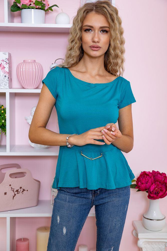 Блуза колір бірюзовий розмір S SKL87-297703