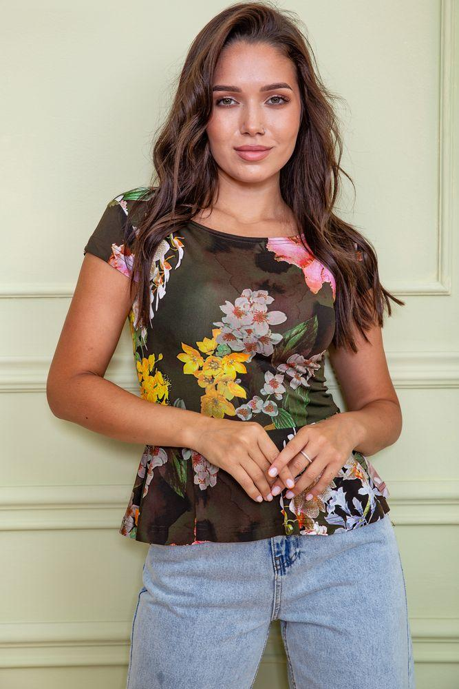 Блуза цвет темно-зеленый размер S SKL87-297757