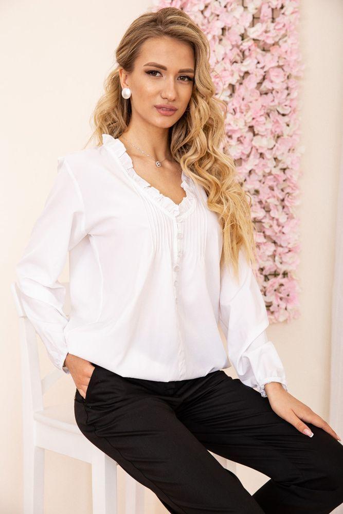 Блуза женская цвет белый размер 48 SKL87-297802