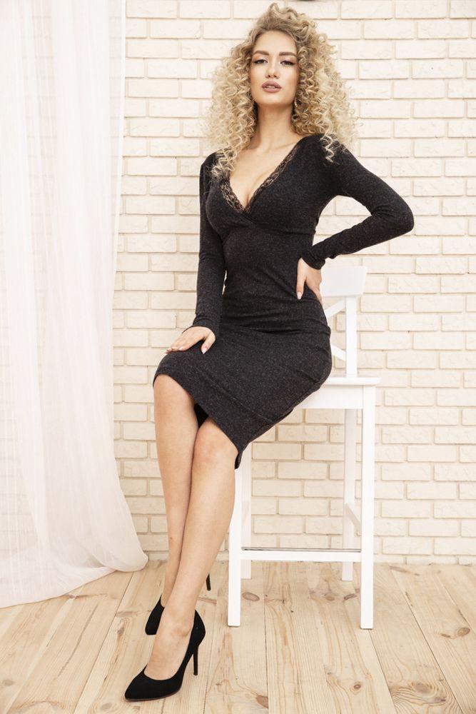 Сукня колір сірий розмір S SKL87-301897