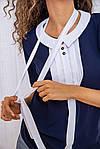 Блуза женская цвет сине-белый размер 44 SKL87-297812, фото 5