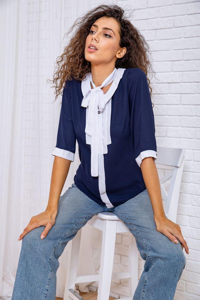Блуза женская цвет сине-белый размер 48 SKL87-297814