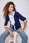 Блуза женская цвет сине-белый размер 48 SKL87-297814, фото 2