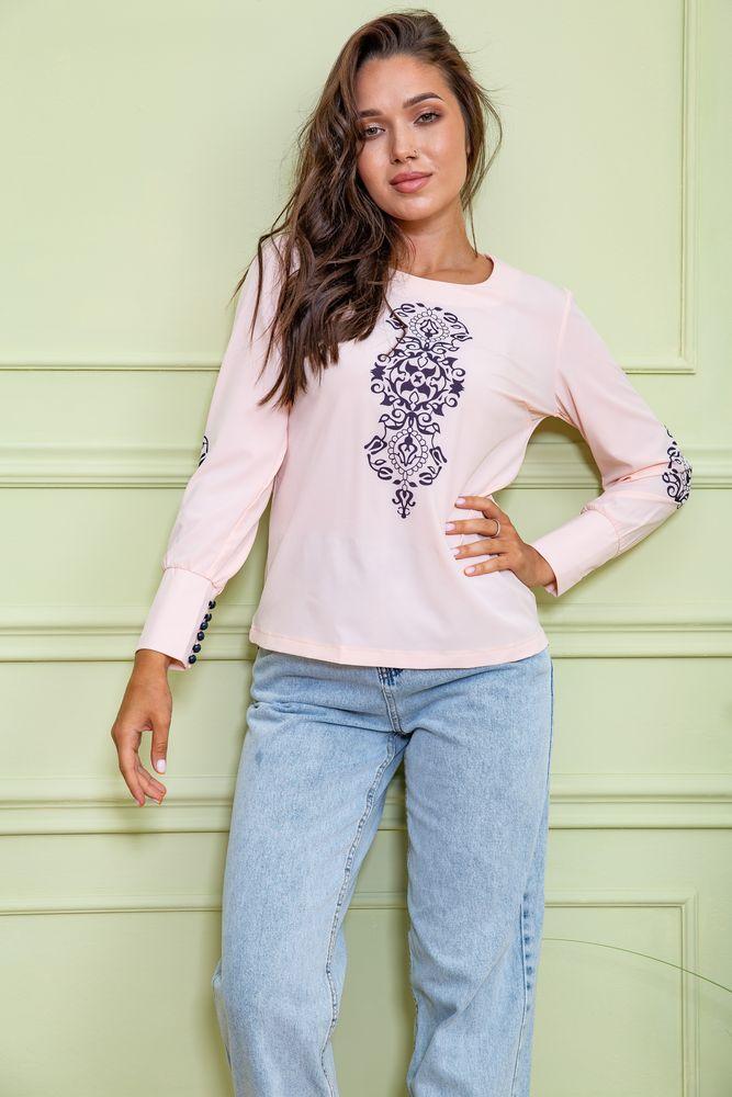 Блуза жіноча колір персиковий розмір 42 SKL87-297823