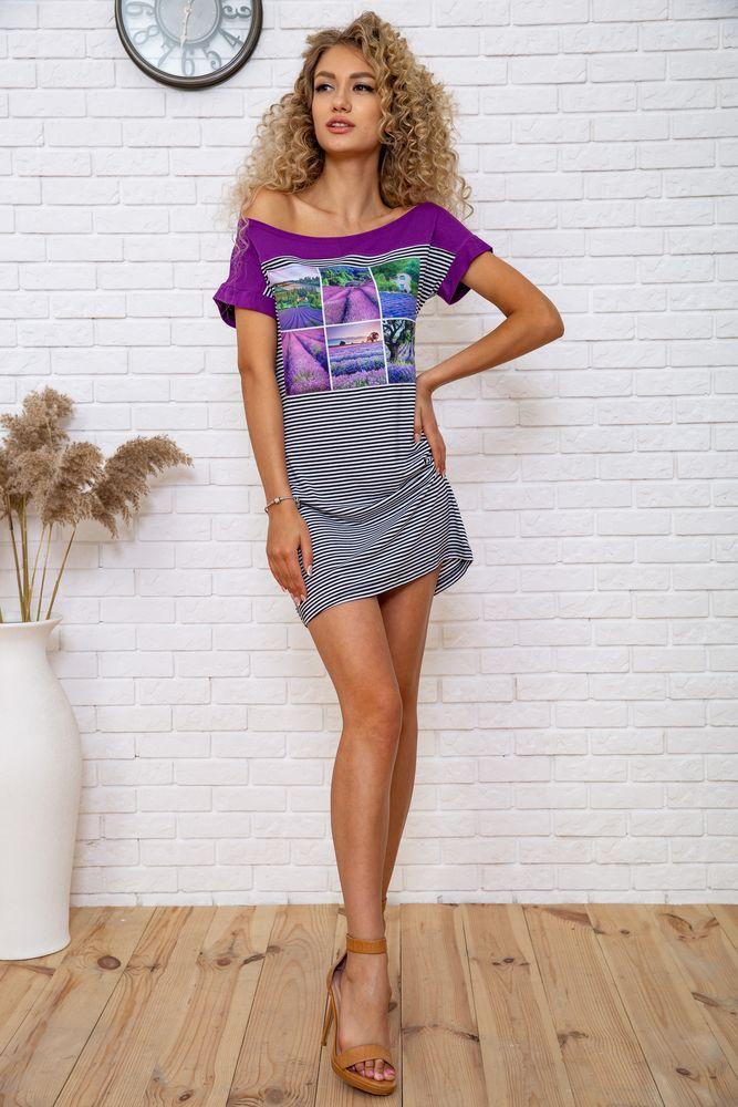 Сукня колір фіолетово-чорний розмір M SKL87-301903