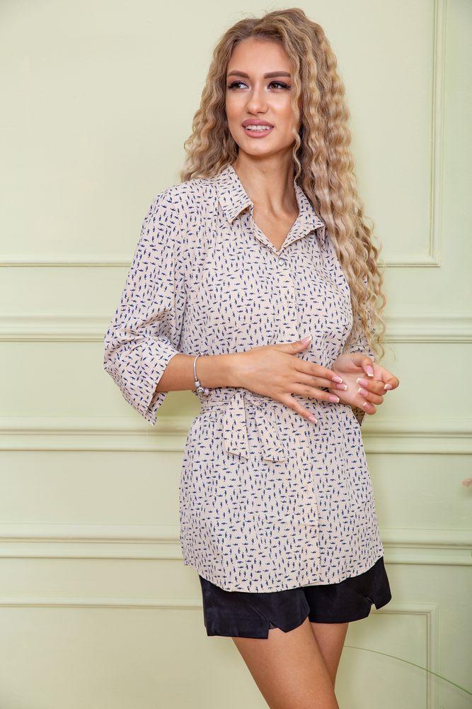 Блуза жіноча колір бежевий розмір 52 SKL87-297841