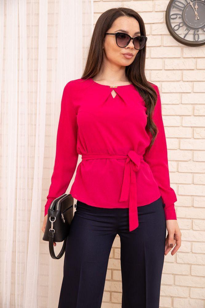 Блуза женская цвет малиновый размер 48 SKL87-297850