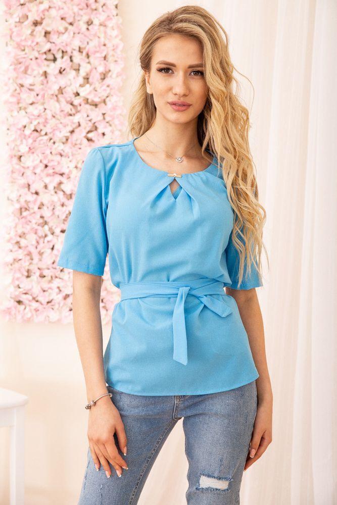 Блуза женская цвет голубой размер 46 SKL87-297858