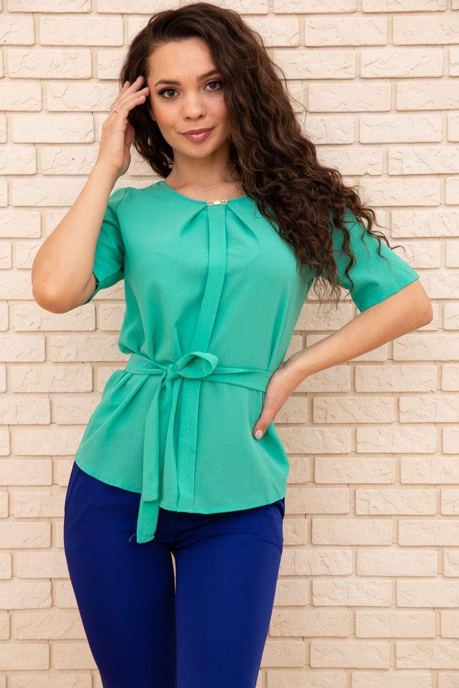 Блуза жіноча колір зелений розмір 48 SKL87-297871