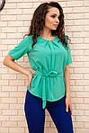 Блуза жіноча колір зелений розмір 48 SKL87-297871, фото 3
