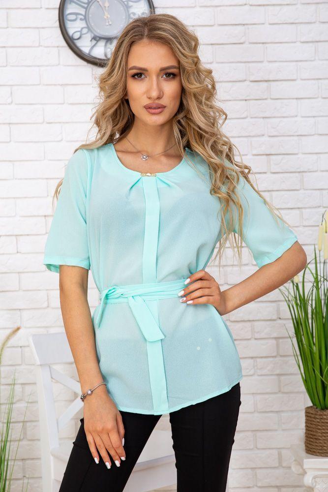 Блуза жіноча колір м'ятний розмір 48 SKL87-297875