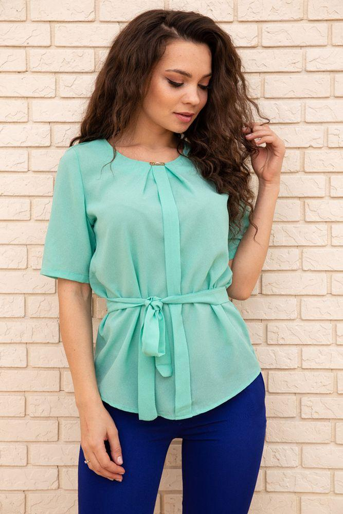 Блуза женская цвет светло-зеленый размер 48 SKL87-297879