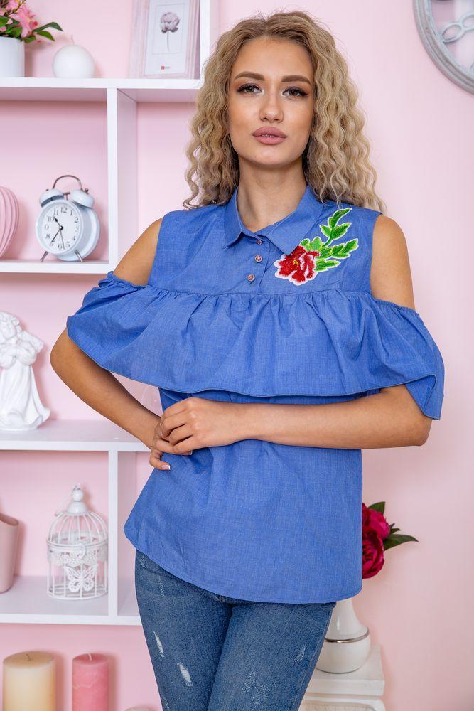 Блуза жіноча колір джинс розмір 44 SKL87-297880