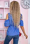 Блуза женская цвет джинс размер 46 SKL87-297881, фото 5