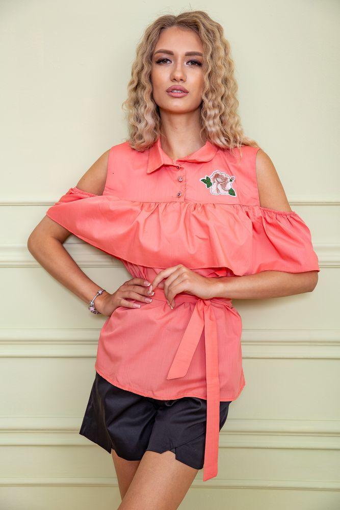 Блуза жіноча колір персиковий розмір 44 SKL87-297888