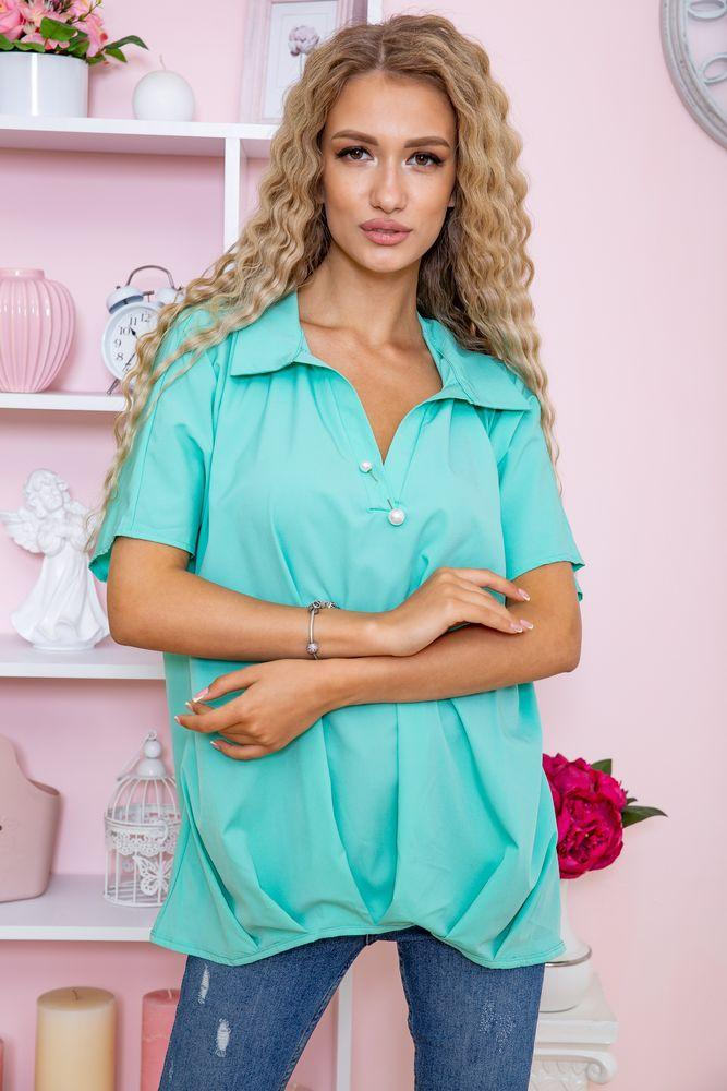 Блуза женская цвет мятный размер 50 SKL87-297903