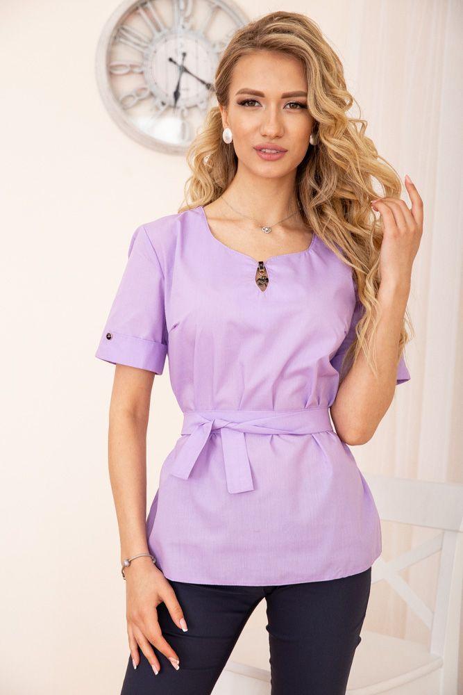 Блуза женская цвет сиреневый размер 48 SKL87-297922