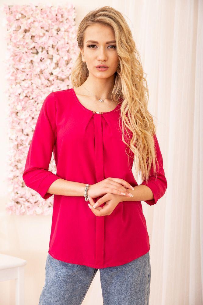 Блуза жіноча колір малиновий розмір 42 SKL87-297932