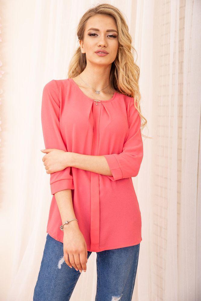 Блуза женская цвет розовый размер 44 SKL87-297937