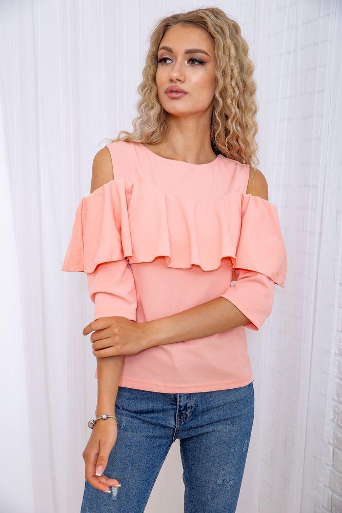 Блуза жіноча колір персиковий розмір 46 SKL87-297952