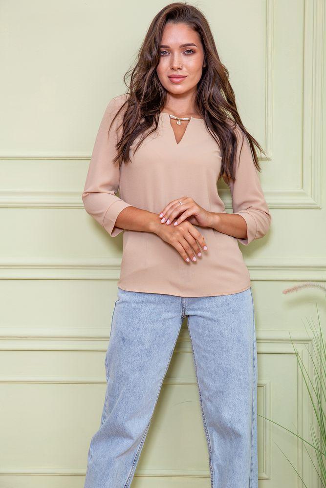Блуза жіноча колір бежевий розмір 44 SKL87-297987