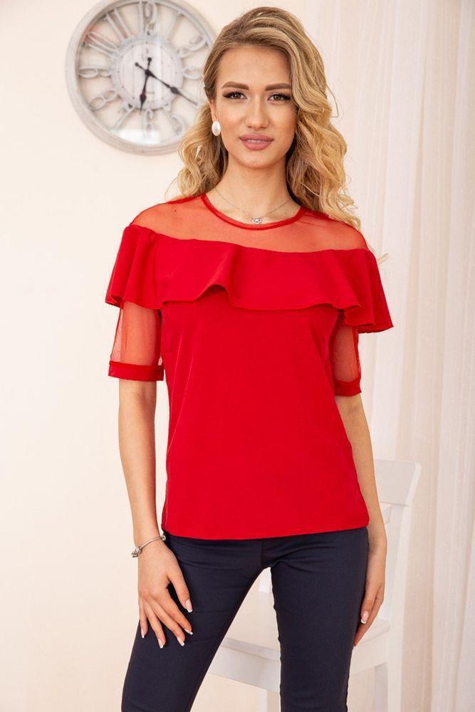 Блуза женская цвет красный размер 42 SKL87-297998