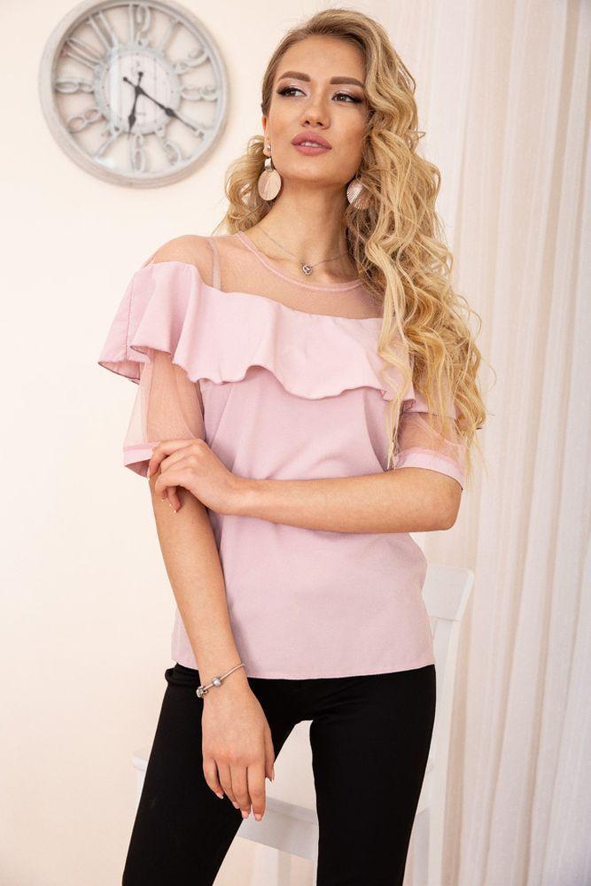 Блуза женская цвет пудровый размер 44 SKL87-298003
