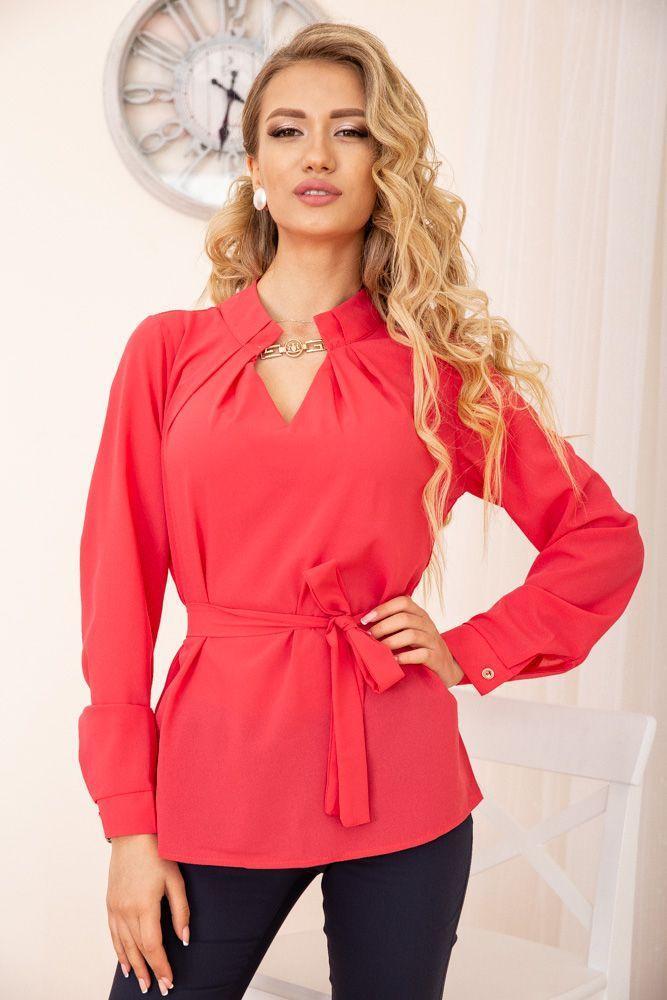 Блуза жіноча колір червоний розмір 44 SKL87-298011