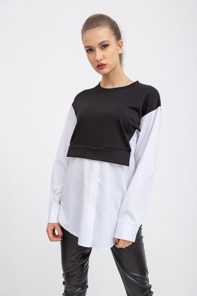 Блуза женская цвет черно-белый размер L SKL87-298020