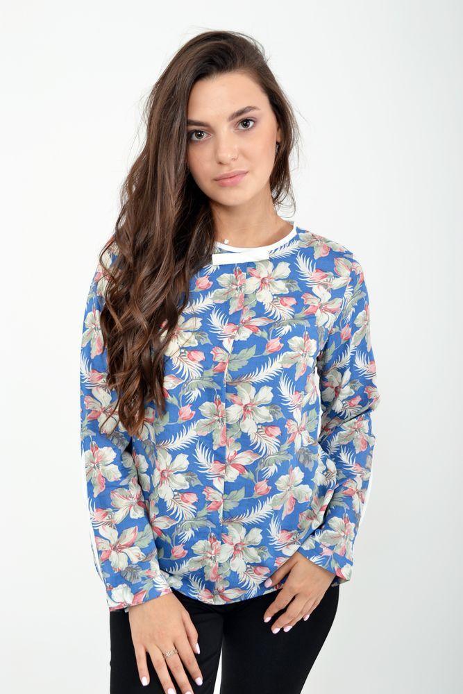 Блуза женская цвет джинс размер 38 SKL87-298022