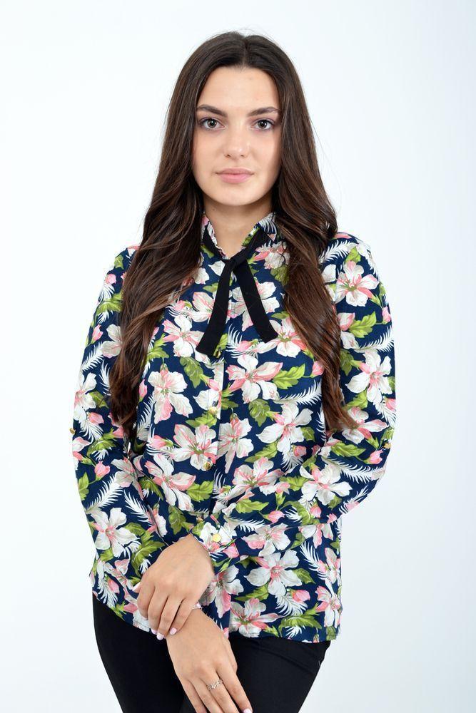 Блуза жіноча колір синій розмір 34 SKL87-298023