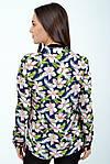 Блуза жіноча колір синій розмір 34 SKL87-298023, фото 3