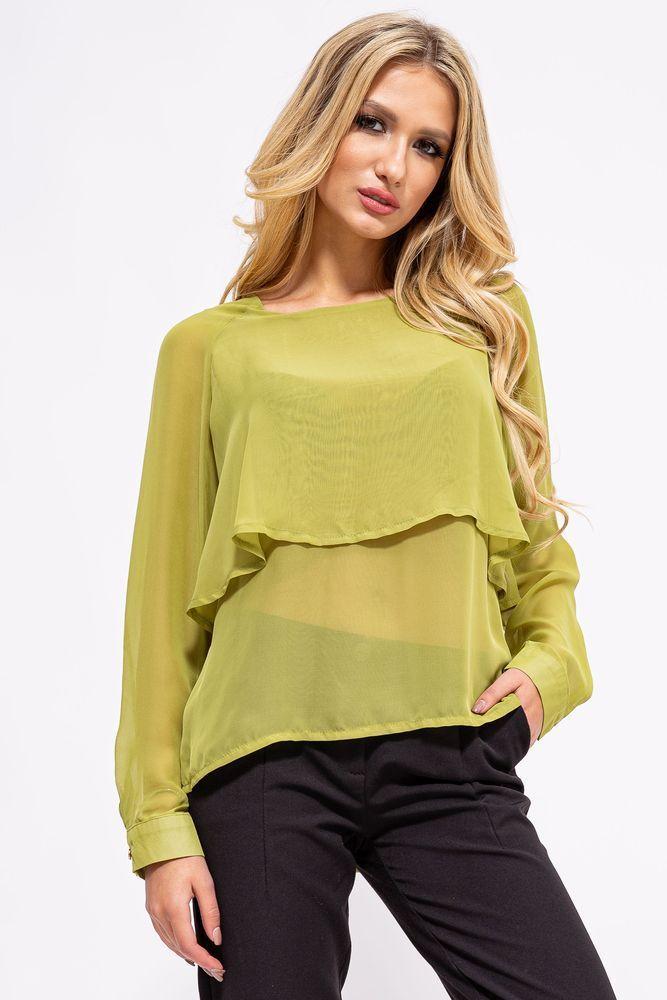 Блуза жіноча колір світло-зелений розмір 38 SKL87-298030