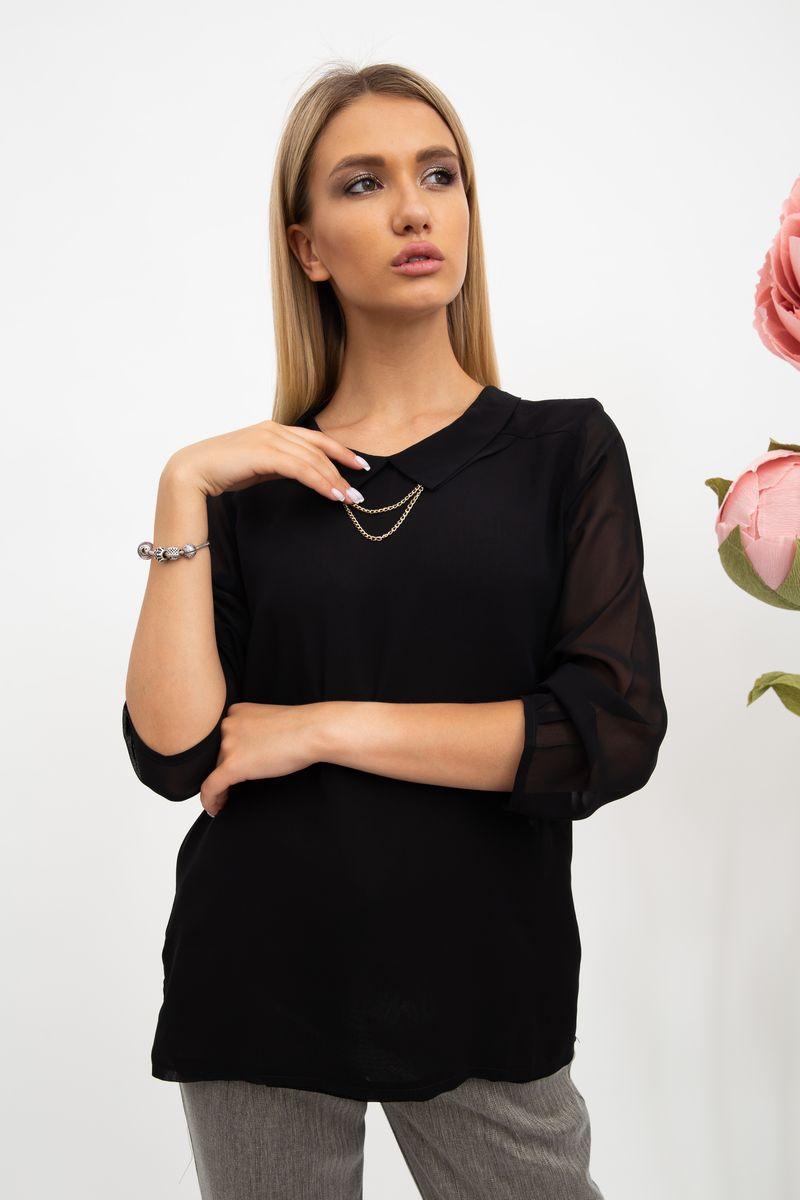 Блуза женская цвет черный размер 36 SKL87-298036