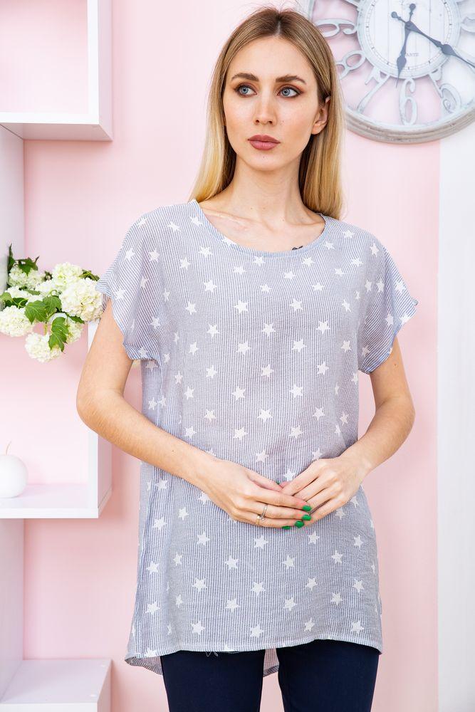 Блуза женская цвет джинс размер 50 SKL87-298055