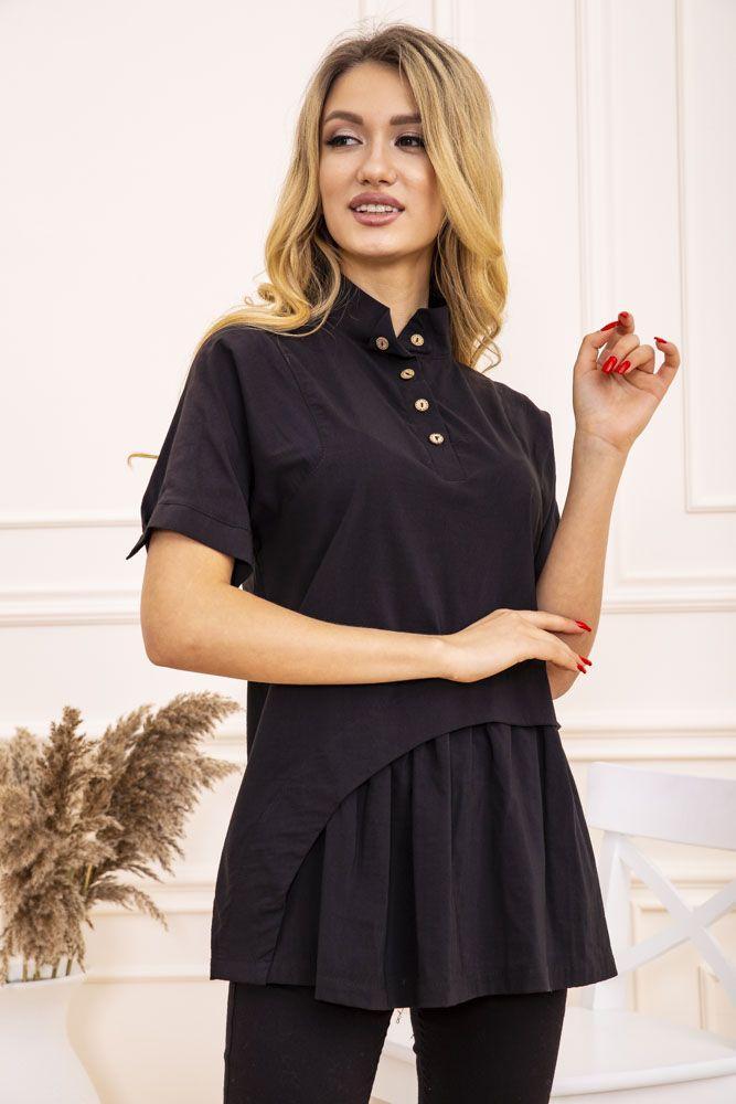 Блуза женская цвет черный размер Xxl SKL87-298070